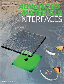 "Towards entry ""Investigating interface reactions in liquids at the nanoscale – Research of CENEM's research training unit  on the inside front cover of Advanced Materials Interfaces"""